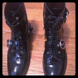 Marc Jacobs patent combat boots